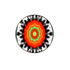 Abstract Kaleidoscope Colored Hat Clip Ball Marker
