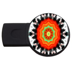 Abstract Kaleidoscope Colored Usb Flash Drive Round (4 Gb)