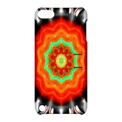 Abstract Kaleidoscope Colored Apple Ipod Touch 5 Hardshell Case With Stand by Samandel