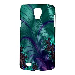 Fractal Turquoise Feather Swirl Samsung Galaxy S4 Active (i9295) Hardshell Case