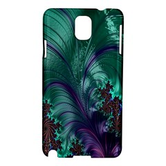 Fractal Turquoise Feather Swirl Samsung Galaxy Note 3 N9005 Hardshell Case