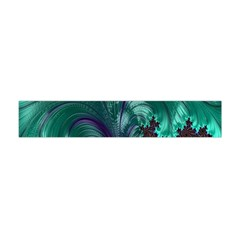 Fractal Turquoise Feather Swirl Flano Scarf (mini) by Samandel