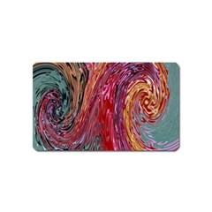 Color Rainbow Abstract Flow Merge Magnet (name Card)