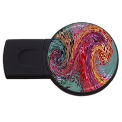 Color Rainbow Abstract Flow Merge Usb Flash Drive Round (2 Gb)
