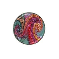 Color Rainbow Abstract Flow Merge Hat Clip Ball Marker
