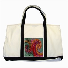 Color Rainbow Abstract Flow Merge Two Tone Tote Bag