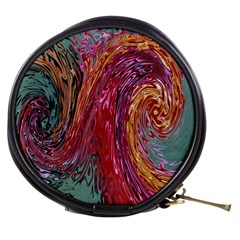 Color Rainbow Abstract Flow Merge Mini Makeup Bag