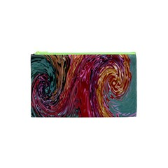 Color Rainbow Abstract Flow Merge Cosmetic Bag (xs)