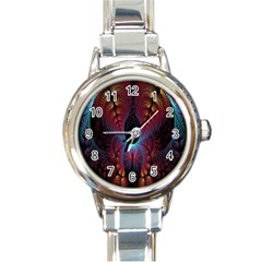 Abstract Abstracts Geometric Round Italian Charm Watch
