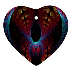 Abstract Abstracts Geometric Heart Ornament (two Sides) by Samandel