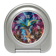 Fractal Art Artwork Psychedelic Travel Alarm Clock