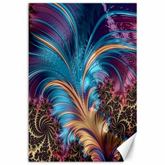 Fractal Art Artwork Psychedelic Canvas 12  X 18