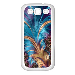 Fractal Art Artwork Psychedelic Samsung Galaxy S3 Back Case (white)