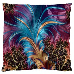Fractal Art Artwork Psychedelic Large Flano Cushion Case (two Sides) by Samandel