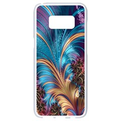 Fractal Art Artwork Psychedelic Samsung Galaxy S8 White Seamless Case by Samandel