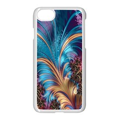 Fractal Art Artwork Psychedelic Apple Iphone 8 Seamless Case (white)