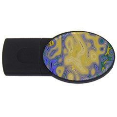 Color Explosion Colorful Background Usb Flash Drive Oval (4 Gb)