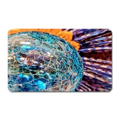 Multi Colored Glass Sphere Glass Magnet (rectangular)