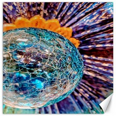 Multi Colored Glass Sphere Glass Canvas 20  X 20  by Samandel