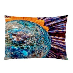 Multi Colored Glass Sphere Glass Pillow Case (two Sides)