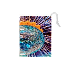 Multi Colored Glass Sphere Glass Drawstring Pouch (small) by Samandel