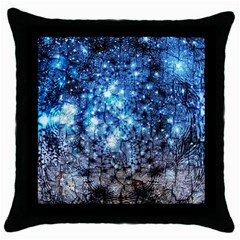 Abstract Fractal Magical Throw Pillow Case (black) by Samandel