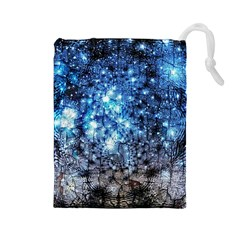 Abstract Fractal Magical Drawstring Pouch (large)