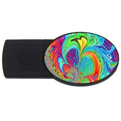 Fractal Art Psychedelic Fantasy Usb Flash Drive Oval (4 Gb)