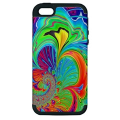 Fractal Art Psychedelic Fantasy Apple Iphone 5 Hardshell Case (pc+silicone) by Samandel