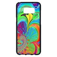 Fractal Art Psychedelic Fantasy Samsung Galaxy S8 Plus Black Seamless Case by Samandel