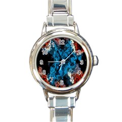 Abstract Fractal Magical Round Italian Charm Watch