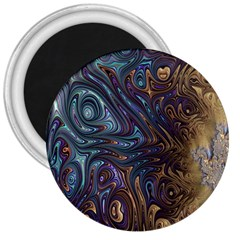 Fractal Art Artwork Globular 3  Magnets