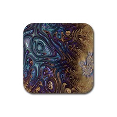 Fractal Art Artwork Globular Rubber Coaster (square)