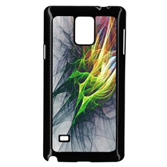 Fractal Art Paint Pattern Texture Samsung Galaxy Note 4 Case (black)
