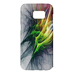 Fractal Art Paint Pattern Texture Samsung Galaxy S7 Edge Hardshell Case by Samandel