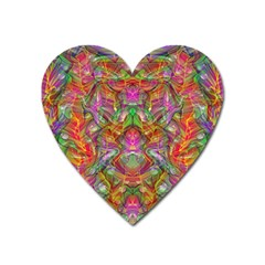 Background Psychedelic Colorful Heart Magnet