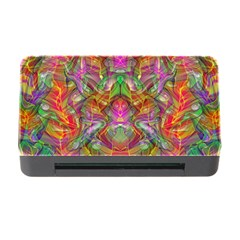 Background Psychedelic Colorful Memory Card Reader With Cf
