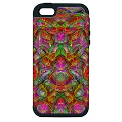 Background Psychedelic Colorful Apple Iphone 5 Hardshell Case (pc+silicone) by Samandel