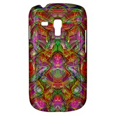 Background Psychedelic Colorful Samsung Galaxy S3 Mini I8190 Hardshell Case by Samandel