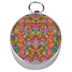 Background Psychedelic Colorful Silver Compasses by Samandel
