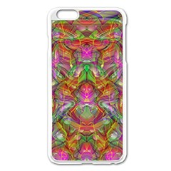Background Psychedelic Colorful Apple Iphone 6 Plus/6s Plus Enamel White Case by Samandel