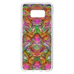 Background Psychedelic Colorful Samsung Galaxy S8 Plus White Seamless Case by Samandel
