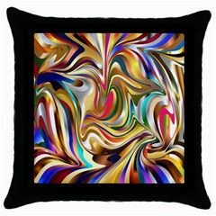 Wallpaper Psychedelic Background Throw Pillow Case (black) by Samandel