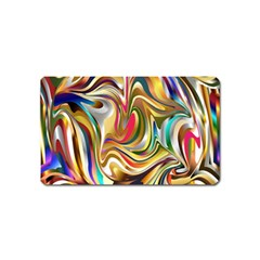 Wallpaper Psychedelic Background Magnet (name Card)