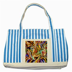 Wallpaper Psychedelic Background Striped Blue Tote Bag