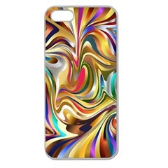 Wallpaper Psychedelic Background Apple Seamless Iphone 5 Case (clear) by Samandel