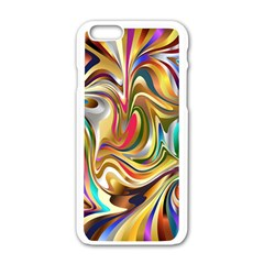 Wallpaper Psychedelic Background Apple Iphone 6/6s White Enamel Case