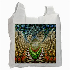 Abstract Fractal Magical Recycle Bag (one Side) by Samandel