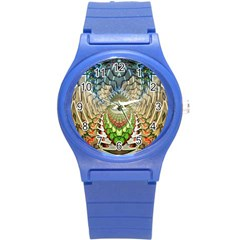 Abstract Fractal Magical Round Plastic Sport Watch (s)