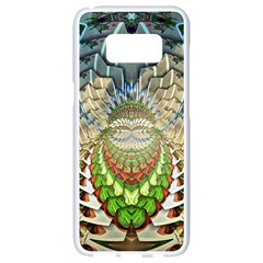 Abstract Fractal Magical Samsung Galaxy S8 White Seamless Case